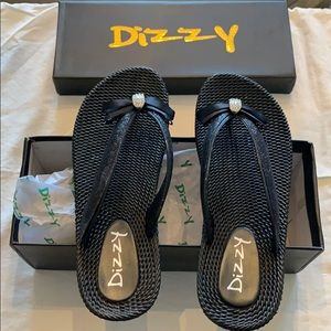 Dizzy black sandals. New in box! So cute! Size 6